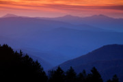 Misty Photo Prints - Morning Colors in the Smokies Print by Andrew Soundarajan