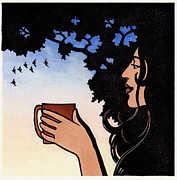 Coffee Reliefs - Morning Cup V by Jonathan Day