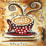 Whimsy Posters - Morning Delight Original Painting MADART Poster by Megan Duncanson