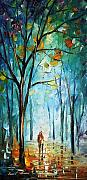 City Park Painting Originals - Morning Fog by Leonid Afremov