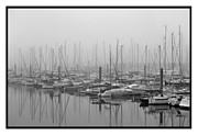 Boats On Water Photo Posters - Morning Fog Poster by Terence Davis