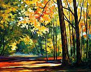Afremov Art - Morning Forest by Leonid Afremov