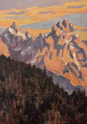 Teton Paintings - Morning Girls by Patricia A Griffin