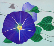 Morning Drawings - Morning Glory by Loraine LeBlanc