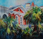 Charleston Houses Paintings - Morning Glory On The Battery by Trish McKinney