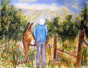 Rays Paintings - Morning Glory by Vicki  Housel