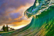 Surf Art Posters - Morning Glow Poster by Paul Topp