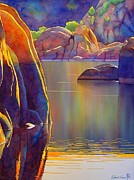 Water Paintings - Morning Glow by Robert Hooper