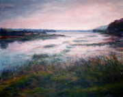 Quin Sweetman Paintings - Morning Glow Scenic Landscape by Quin Sweetman