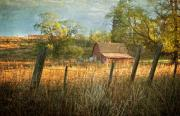 Barnyard Posters - Morning Greets the Barnyard  Poster by Reflective Moments  Photography and Digital Art Images
