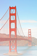 Iconic Structures Prints - Morning has broken - Golden Gate Bridge San Francisco Print by Christine Till