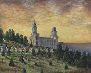 Utah Painting Prints - Morning he came again into the Temple Print by Jeff Brimley
