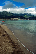 Kauai Prints Prints - Morning in Hanalei Bay Print by Kathy Yates