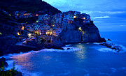 Blue Grapes Photos - Morning in Manarola by Barbara Walsh