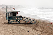 Beachscape Photos - Morning in Santa Monica by John Rizzuto