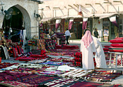 Mideast Framed Prints - Morning in Souq Waqif Doha Qatar Framed Print by Paul Cowan