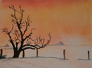 Cold Morning Sun Paintings - Morning by John W Walker