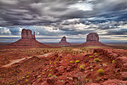 Blanding Prints - Morning Light at Monument Valley Print by Brian Stamm