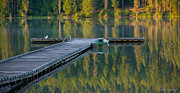 Rowboat Prints - Morning Light Print by Idaho Scenic Images Linda Lantzy
