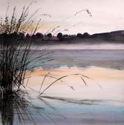 River View Drawings - Morning Light by John  Williams
