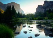 Reflections In River Prints - Morning light on El Capitan Print by Idaho Scenic Images Linda Lantzy
