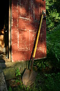 Outbuildings Framed Prints - Morning Light On The Door Of An Old Framed Print by Stephen St. John