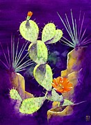 Cactus Paintings - Morning Light by Robert Hooper