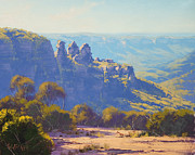 Three Sisters Prints - Morning Light Three Sisters Print by Graham Gercken