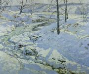 Winter Scenes Art - Morning Light by Walter Elmer Schofield