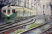 Morning Local Train Print by Mrutyunjaya Dash