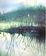 Gertrude Palmer Metal Prints - Morning Marsh Metal Print by Gertrude Palmer
