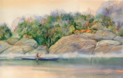 Morning Mist High Island Print by Marguerite Chadwick-Juner