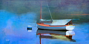 Sailboat Ocean Mixed Media Posters - Morning Mist Poster by Michael Petrizzo