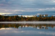 Wasilla Posters - Morning Mist on Hourglass Lake Poster by Melissa Wyatt