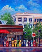 News Paintings - Morning News - Asheville by Jeff Pittman