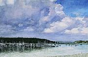 Sail Boats Prints - Morning of Regatta Print by Perry Woodfin