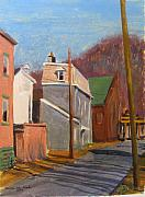 Lawrenceville Prints - Morning on 50th Street Print by Martha Ressler