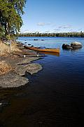Boundary Waters Canoe Area Wilderness Posters - Morning on Hope Lake Poster by Larry Ricker