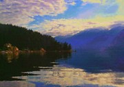 Deep Reflection Posters - Morning on Indian Arm Poster by Diana Cox
