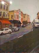 City Scape Pastels - Morning on King Street Charleston SC II by Hillary Gross