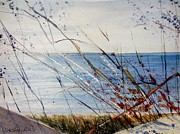 Great Outdoors Paintings - Morning on Lake Michigan by Sandra Strohschein