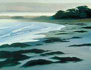 Sea With Waves Posters - Morning on Monterey Beach Poster by Jennifer Speigle