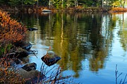 Boundary Waters Canoe Area Wilderness Photos - Morning Reflections On Chad Lake by Larry Ricker