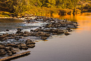 Silk Water Prints - Morning Reflections Print by Robert Bales