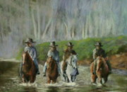 Morning Pastels Originals - Morning Ride by Janice Mills