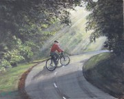 Rides Painting Originals - Morning Ride by KC Knight