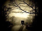 Amish Buggy Photos - Morning Ride by Michael L Kimble