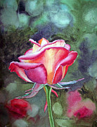 Rose Garden Paintings - Morning Rose by Irina Sztukowski
