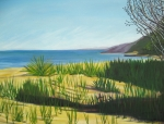 Lake Michigan Painting Originals - Morning Shadows Dune Series five by D T LaVercombe