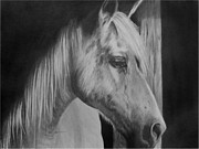 Cowboy Drawing Originals - Morning Shadows by Geri Dunn
